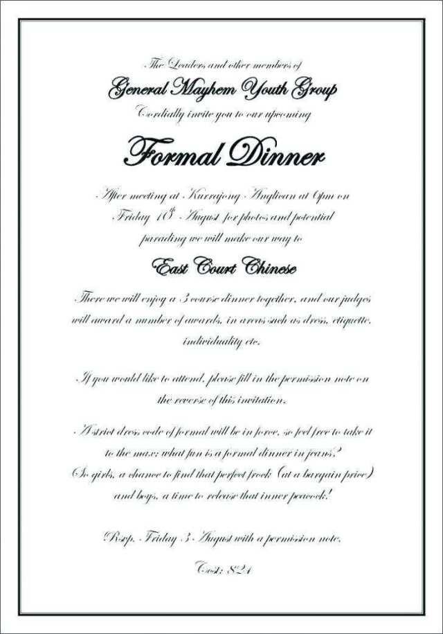 30 Creative Formal Dinner Invitation
