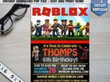 roblox birthday invitation template
