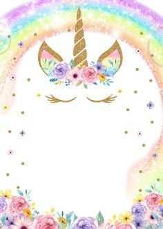 37 customize unicorn blank invitation