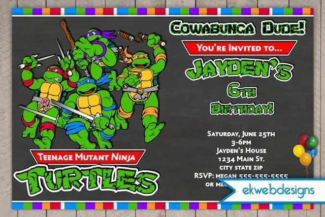 37 free printable ninja turtle birthday