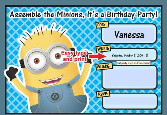 40 adding minions birthday invitation