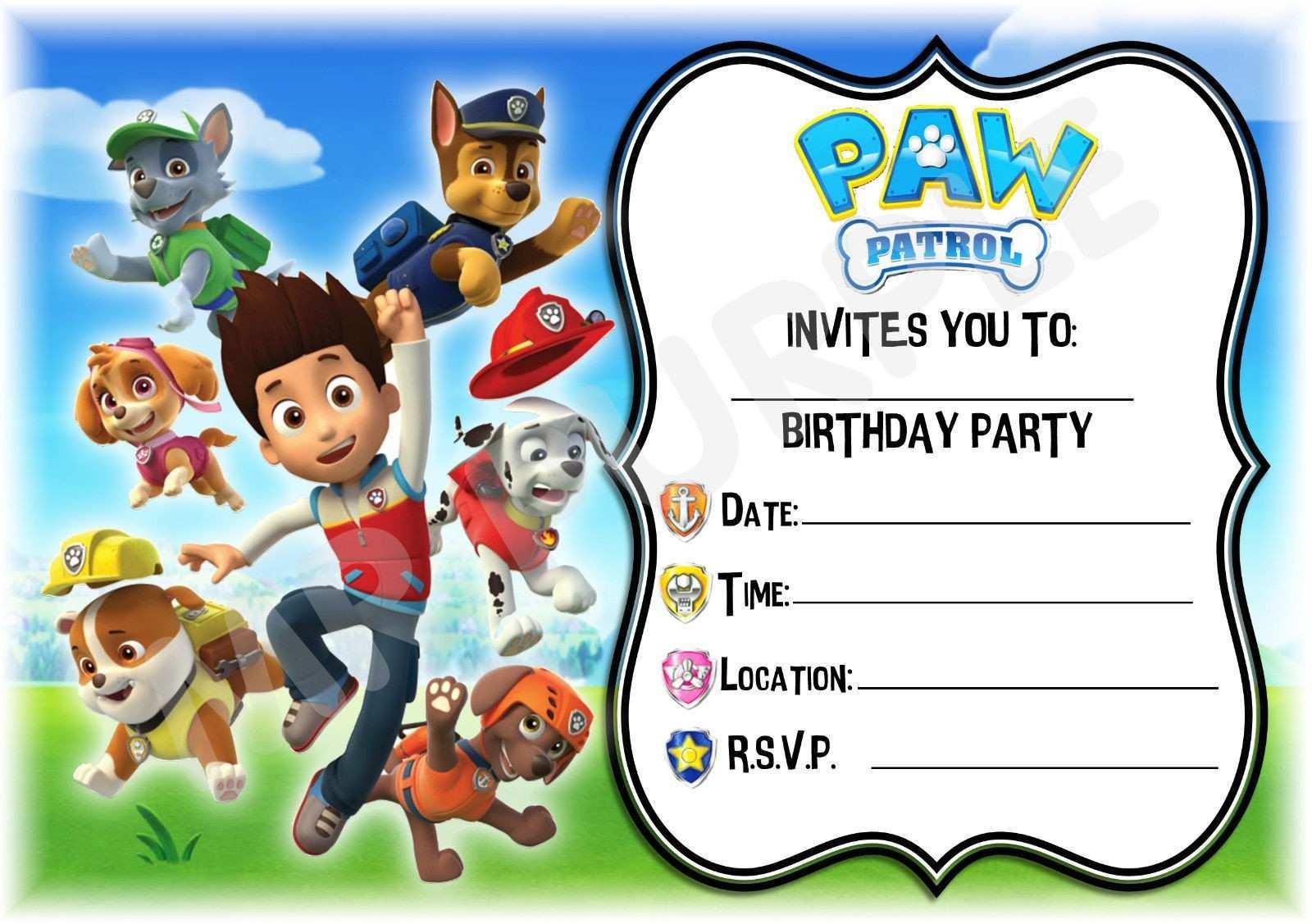 42 the best free paw patrol birthday