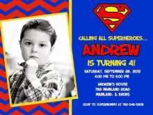 52 blank superman birthday invitation