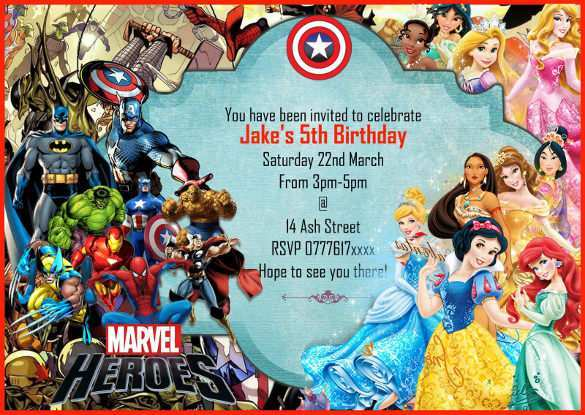 avengers party invitation template
