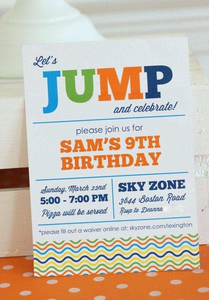 53 adding sky zone birthday invitation