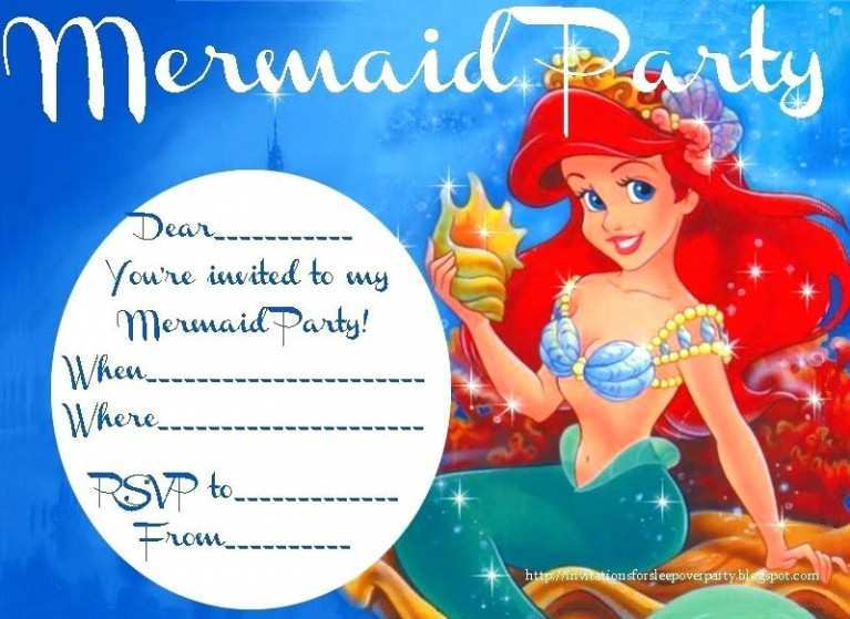 55 free little mermaid birthday