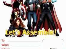 50 blank avengers birthday invitation
