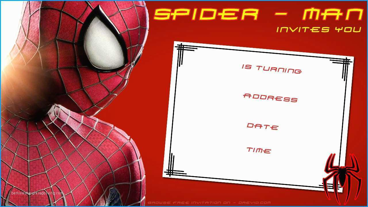 64 adding spiderman birthday invitation