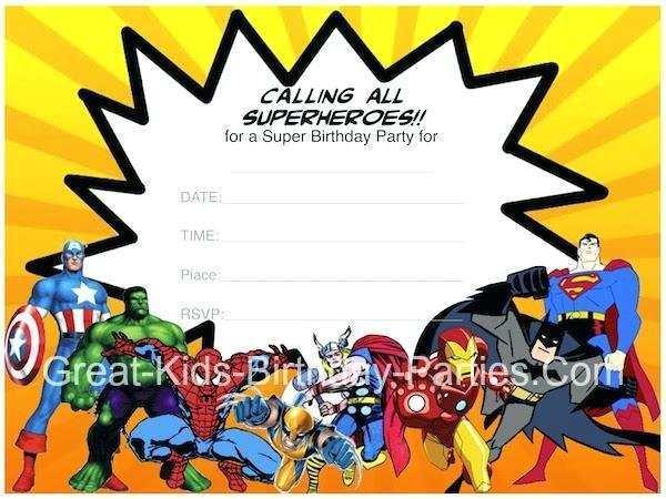 avengers birthday invitation template