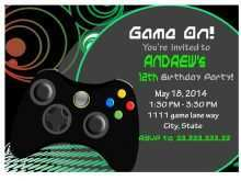 video game party invitation template
