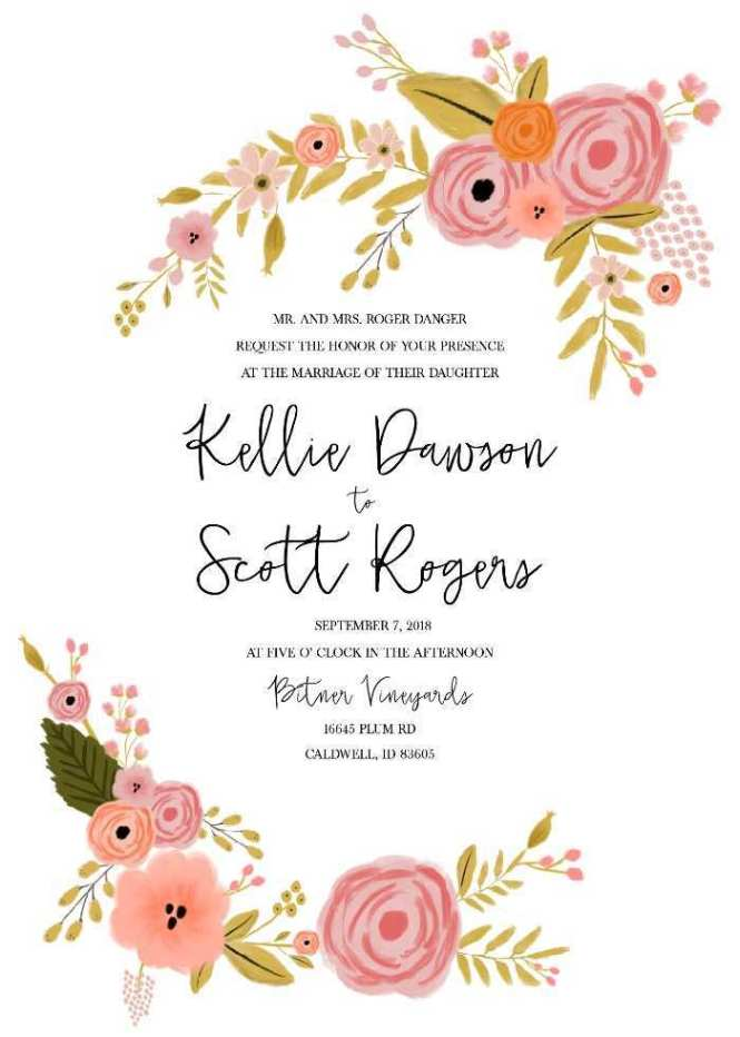 80 Free Printable Wedding Invitation