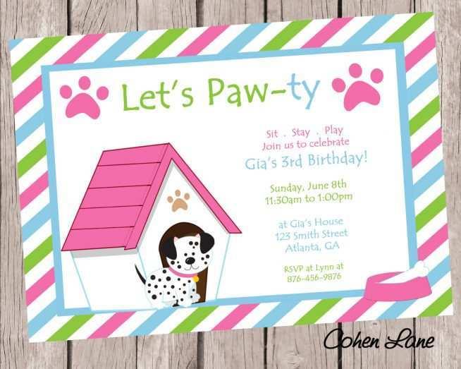 82 creating dog party invitation