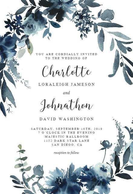 blank wedding invitation card template