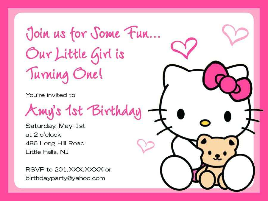 85 best hello kitty birthday invitation