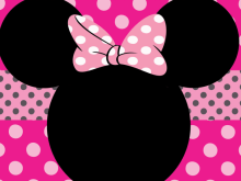 85 format minnie mouse birthday