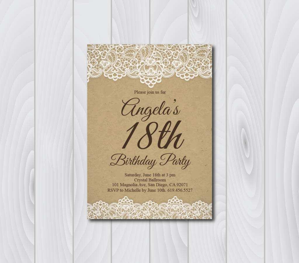 86 adding vintage birthday invitation