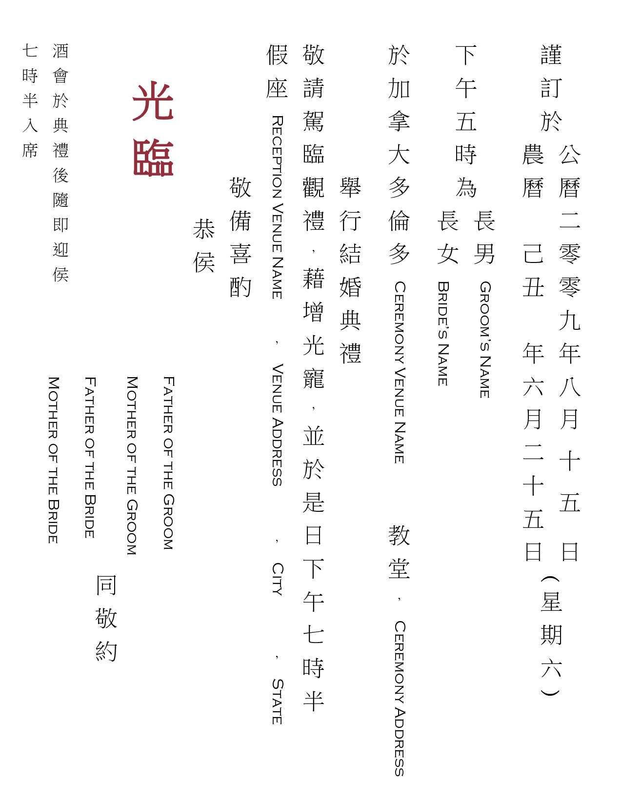 birthday invitation template chinese