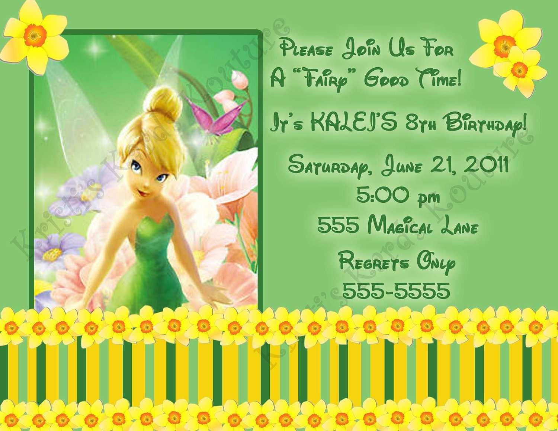 tinkerbell birthday invitation template