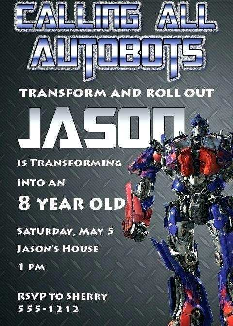 92 how to create transformers birthday