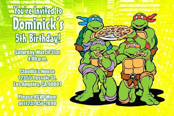 97 free ninja turtle birthday