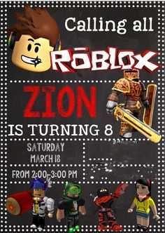 roblox party invitation template