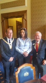 RP with Lord Mayor Arder Carson of Belfast