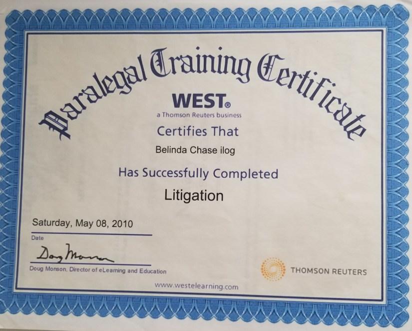 certificate litigation