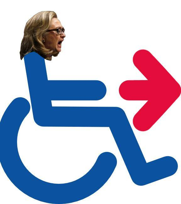 Image result for hillary wheelchair