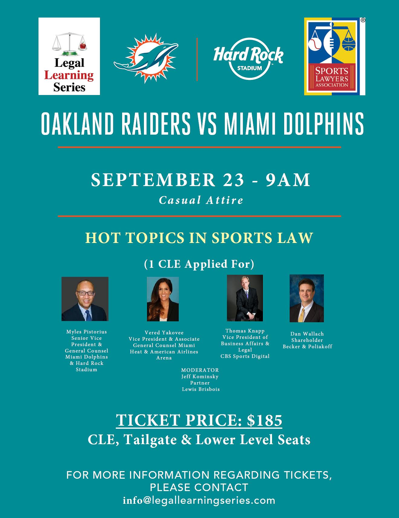 4th Annual Miami Dolphins Game & CLE