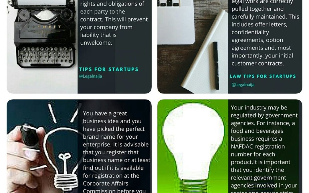Legal tips for business #Startups