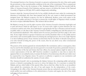 The Role of the Attorney-General and the Public Interest   The Justice Reform Project