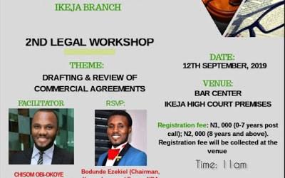 NBA Ikeja Young Lawyers' Forum Presents Legal Workshop
