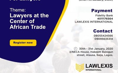 Register for the International Trade Law and Conflict Management Training for Lawyers