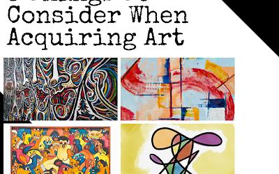 3 Things to Consider When Acquiring Art | Adedunmade Onibokun