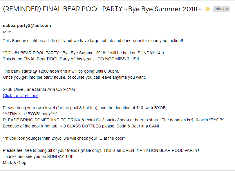 nude gay bear pool party