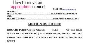 How to Move a Motion in Court - The right way