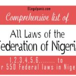 Comprehensive list of all laws of the federation of Nigeria