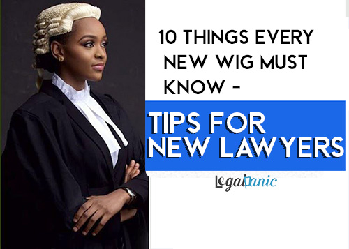 10 Things Every New Wig must know - Tips for New Lawyers