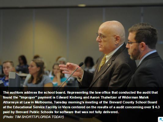 Kinberg and Thalwitzer adressing Brevard County school board