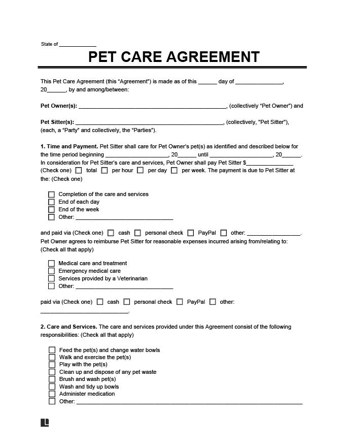 Printable Vet Consent Form