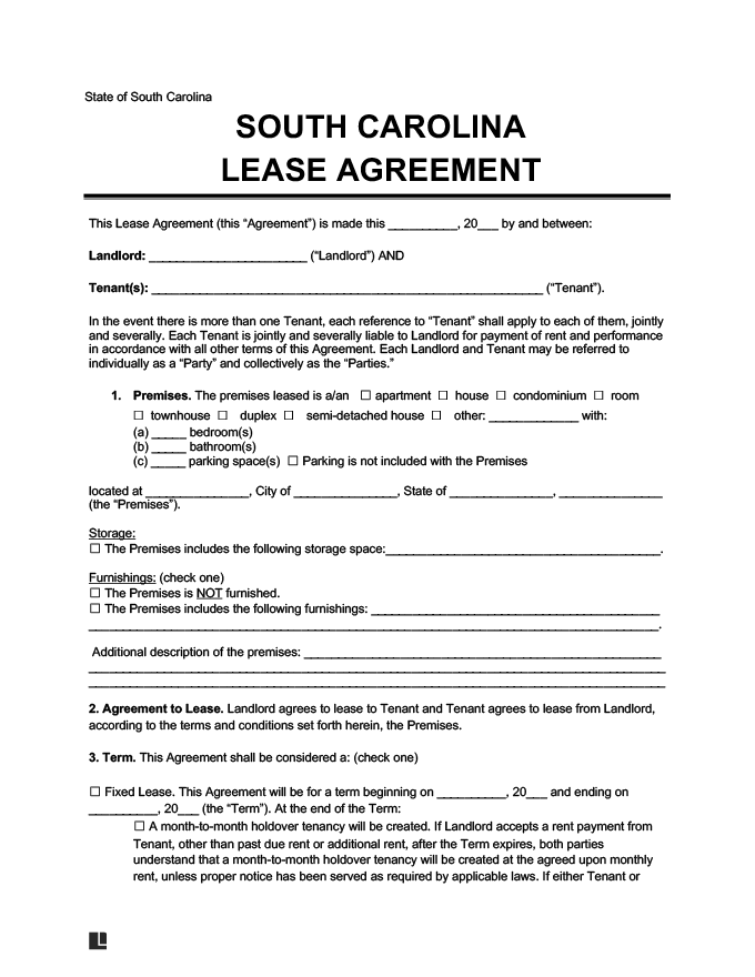 Lease Agreement For Renting A House In Illinois
