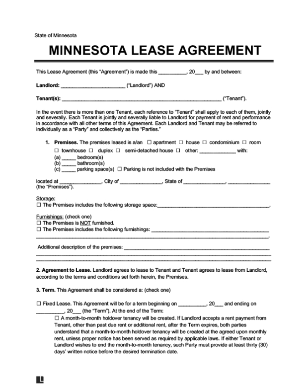 End Of Lease Letter To Tenant From Landlord Mn Save Template
