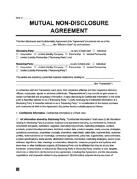 If any of the bound parties break an nda, the party that released or used the information for their personal benefit may be liable for monetary damages. Non Disclosure Agreement Template Free Create Download Print