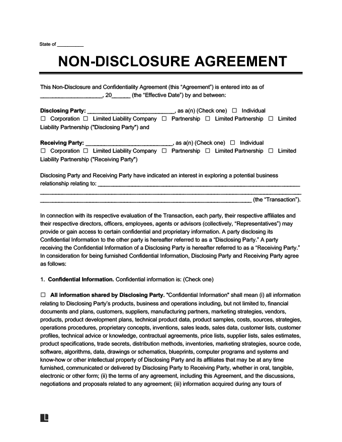 Add who is the disclosing party) (the disclosing party), hereinafter referred to as the Non Disclosure Agreement Template Free Create Download Print