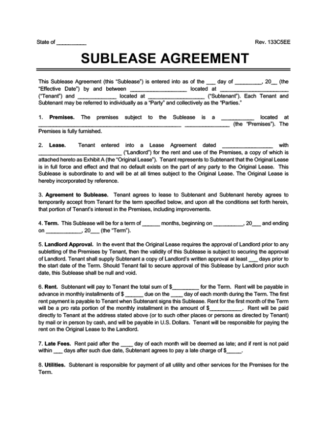 Al Lease Agreement Forms Free