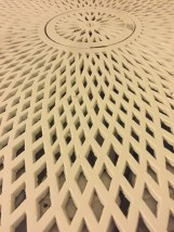 Detail of radiator cover.