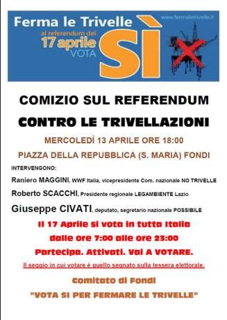 Chiusura campagna referendaria