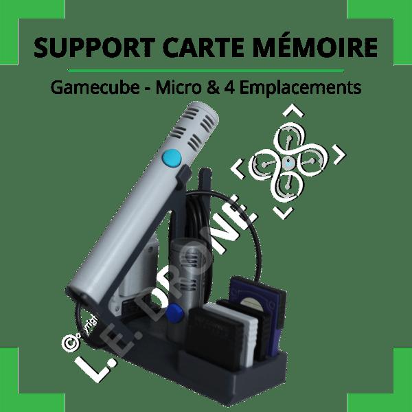 Support cartes mémoire et micro GameCube