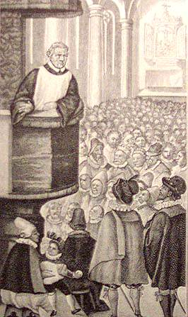 Martin Luther preaching