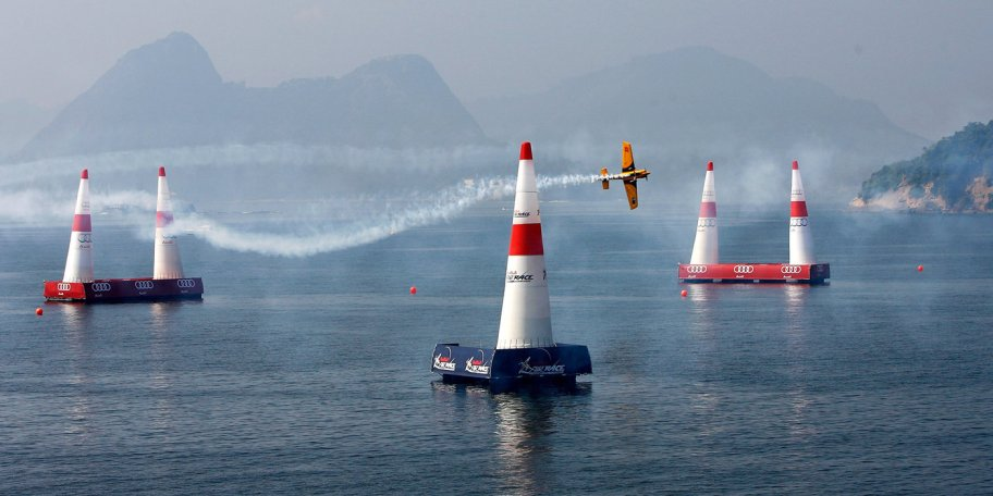 Matt Hall of Australia in action during the Red Bull Air Race 2nd Training Day on May 7, 2010 in Rio de Janeiro, Brazil. // Dean Mouhtaropoulos / Getty Images for Red Bull Air Race // P-20120217-74058 // Usage for editorial use only // Please go to www.redbullcontentpool.com for further information. //